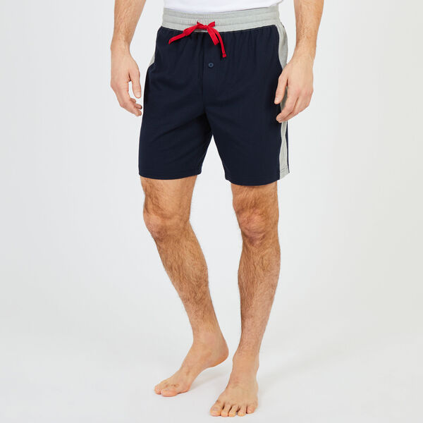 Colorblock Pajama Shorts - Pure Dark Pacific Wash