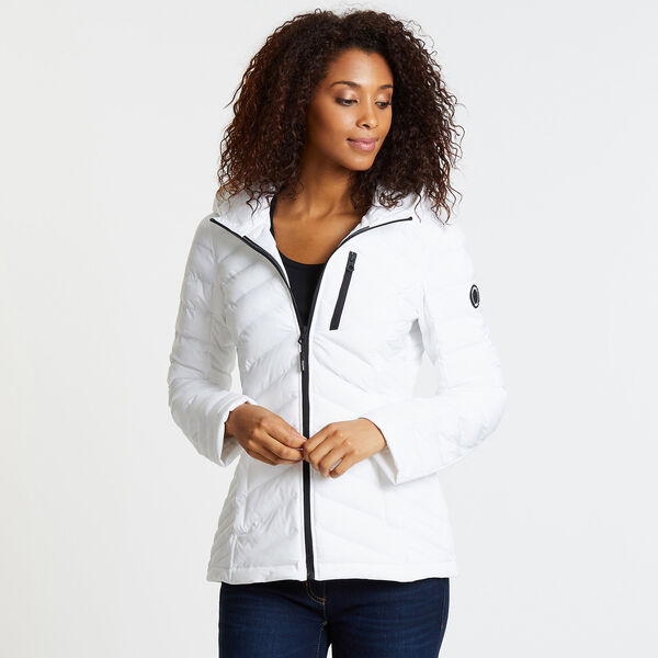 Stretch Jacket with Logo Hood - Bright White