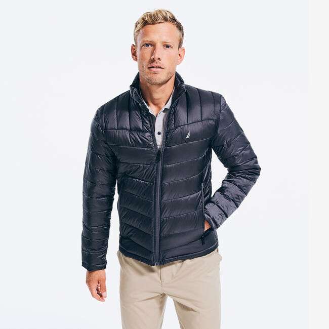 QUILTED J-CLASS RIPSTOP JACKET,Grey Carbon,large