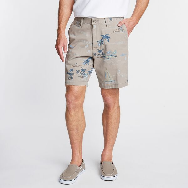 CLASSIC FIT DECK SHORT IN PRINT - True Khaki