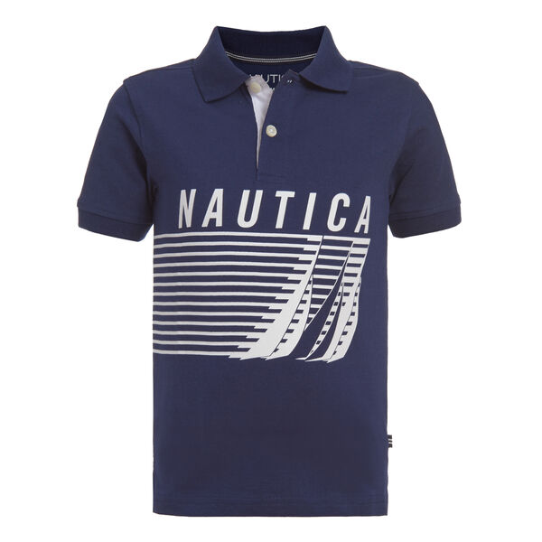 LITTLE BOYS' J-CLASS TRIO GRAPHIC POLO (4-7) - J Navy
