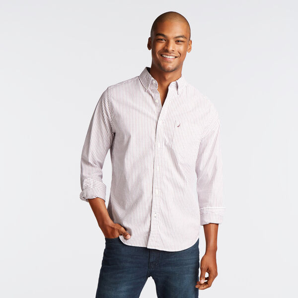 Long Sleeve Classic Fit Oxford Shirt - Nantucket Red