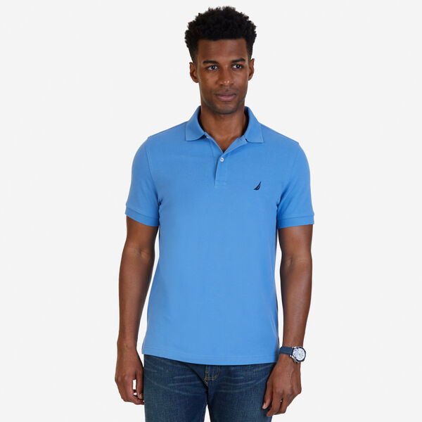 SLIM FIT DECK POLO - Riviera Blue