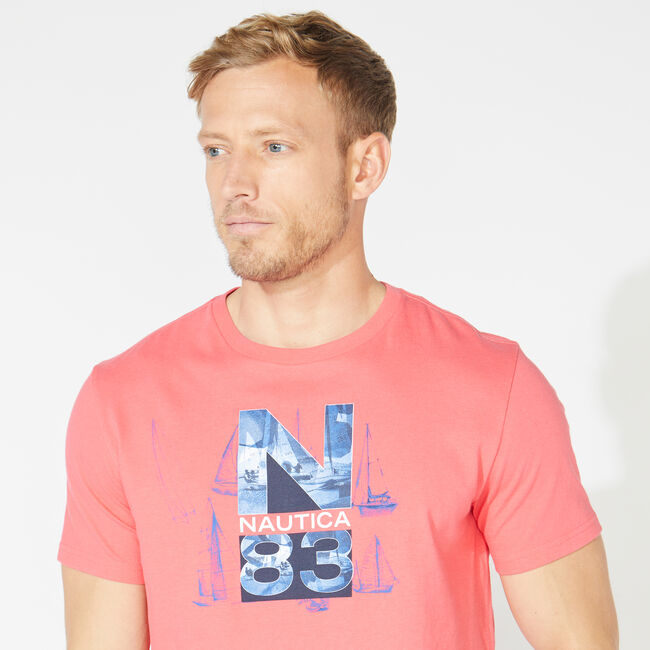 NS-83 PHOTO GRAPHIC TEE,Persian Red,large