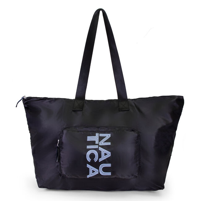 NEW TACK PACKABLE TOTE BAG,True Black,large