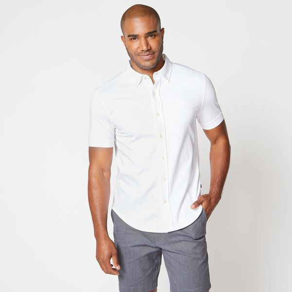 HARBOR SHIRT IN SOLID KNIT COTTON - Bright White