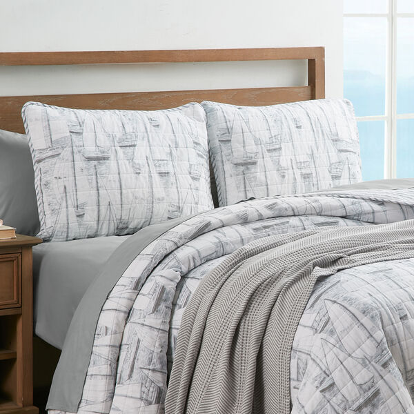 CLIPPER GREY KING QUILT-SHAM SET - Multi