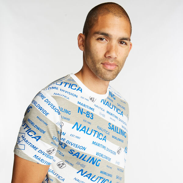 JERSEY T-SHIRT IN PRINT - Bright White