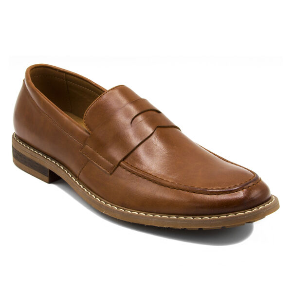 Elias Loafer in Tumbled Brown - Brown