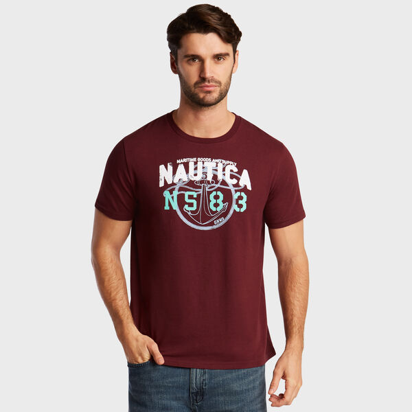 Anchor Rope NS-83 T-Shirt - Royal Burgundy