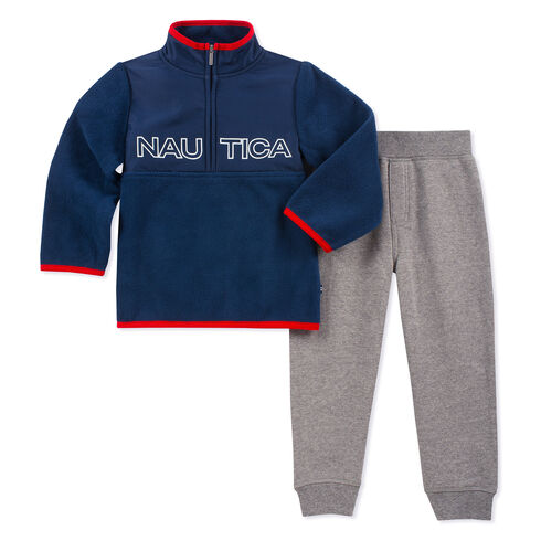 Toddler Boys' Nautex Logo Pullover & Leggings Set (2T-4T) - Sport Navy