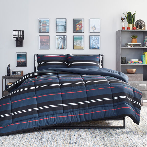 TALMAGE NAVY TWIN/TWIN XL COMFORTER-SHAM SET - Multi