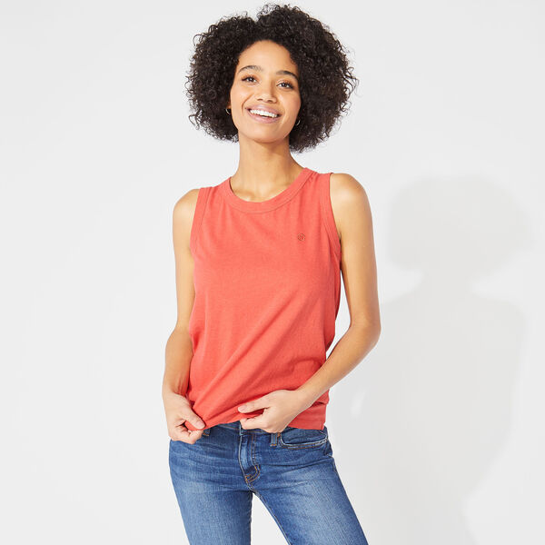 NAUTICA JEANS CO. TIE BACK TOP - Crimson