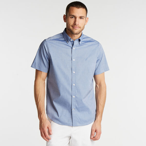 CLASSIC FIT SHORT SLEEVE WRINKLE-RESISTANT SHIRT - Limoges