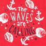 Toddler Girls' Waves-R-Calling High-Low Tank (2T-4T),Buoy Red,large