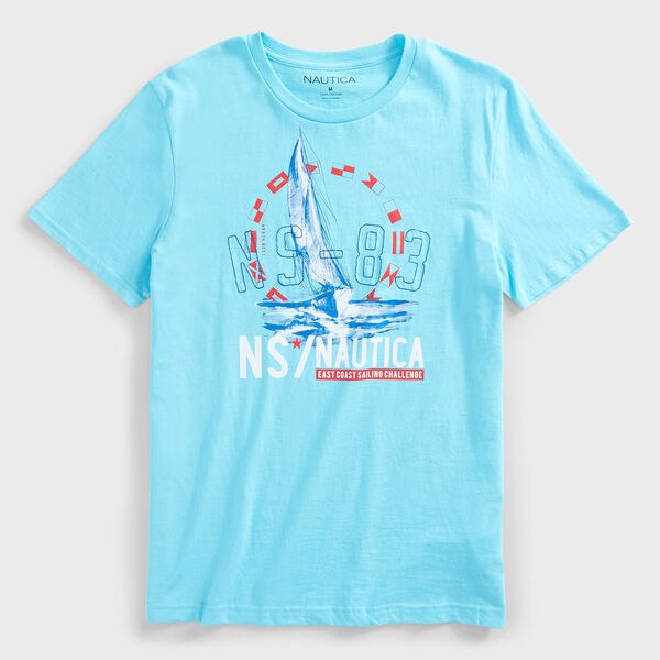 SAILBOAT NS-83 LOGO GRAPHIC T-SHIRT - Ballard Blue