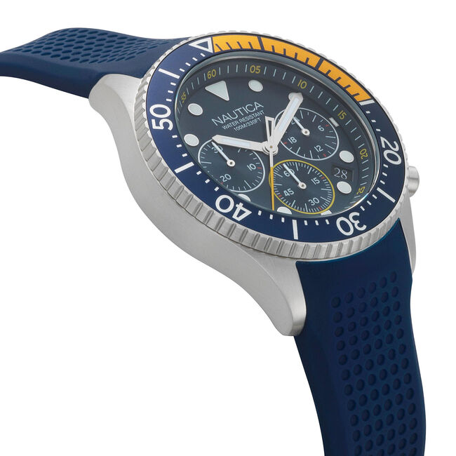 Westport Chronograph Watch - Navy,Navy,large
