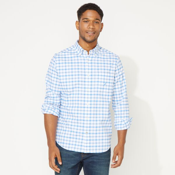 CLASSIC FIT LONG SLEEVE PLAID OXFORD SHIRT - Aquasplash
