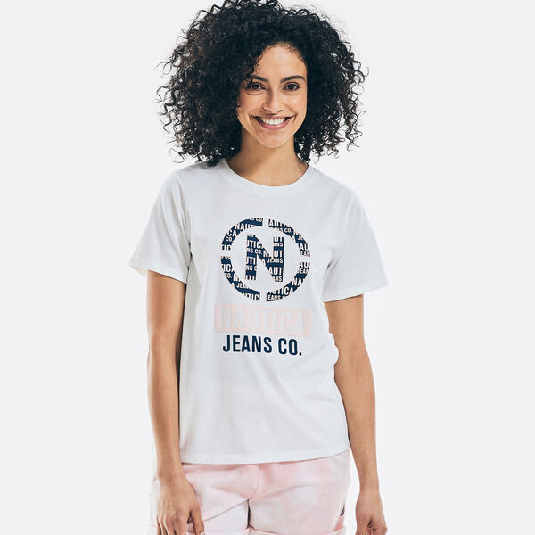 NAUTICA JEANS CO. SUSTAINABLY CRAFTED LOGO T-SHIRT - Bright White