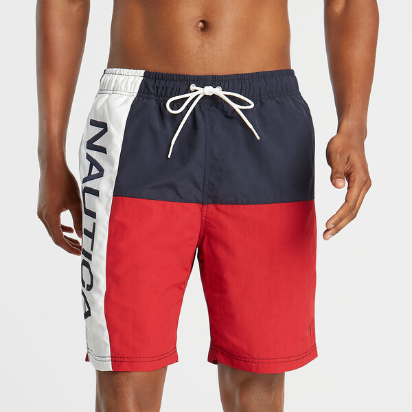 "8"" COLORBLOCK SWIM TRUNK - Nautica Red"