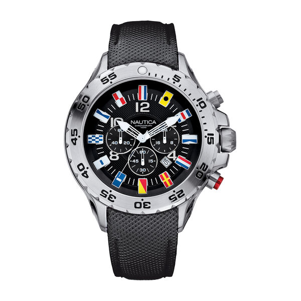 NST Flag Chronograph Watch - Black - Multi