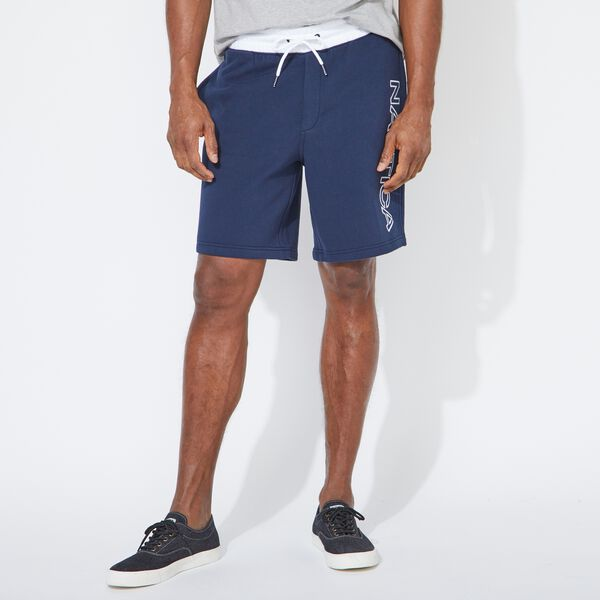 LOGO KNIT SHORTS - Navy