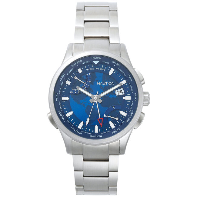Shanghai Stainless Steel Analog Watch,Multi,large