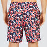 Big & Tall Abstract Poppy Swim Trunks,Spiced Coral,large