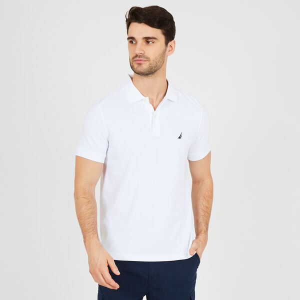 SLIM FIT MESH POLO - Bright White