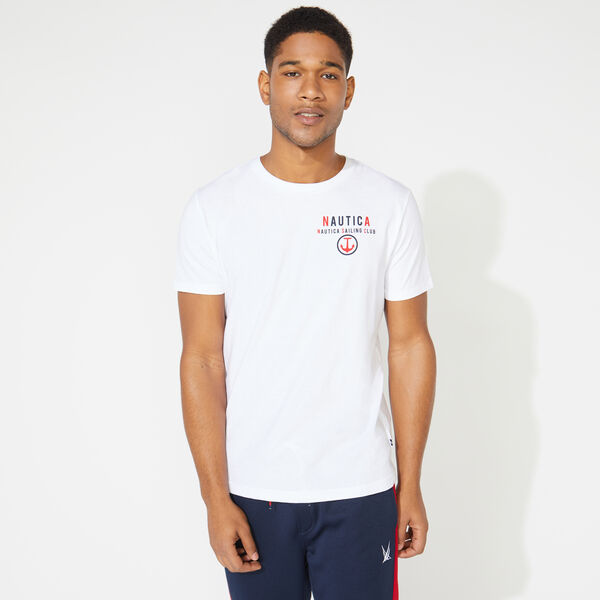 NAUTICA SAILING GRAPHIC TEE - Bright White