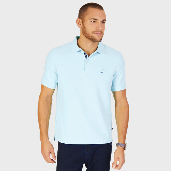 Short Sleeve Performance Deck Polo Shirt  - Medallion Blue