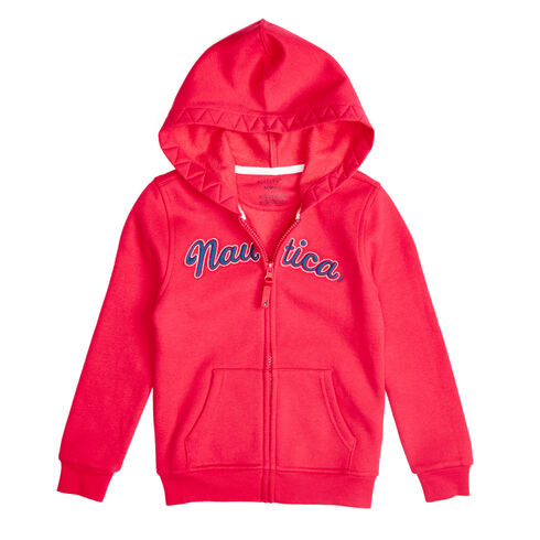 Girls' Nautica Full-Zip Hoodie (8-16) - Multi Pink