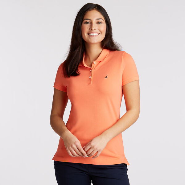 Short Sleeve Classic Fit Anchor Polo - Vibe Orange