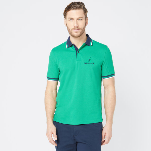 CLASSIC FIT LOGO POLO - Cosmic Fern