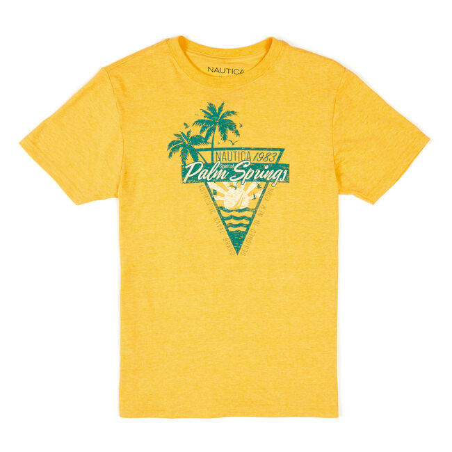 Toddler Boys' Maddox Short Sleeve Graphic Tee (2T-4T),Canary,large