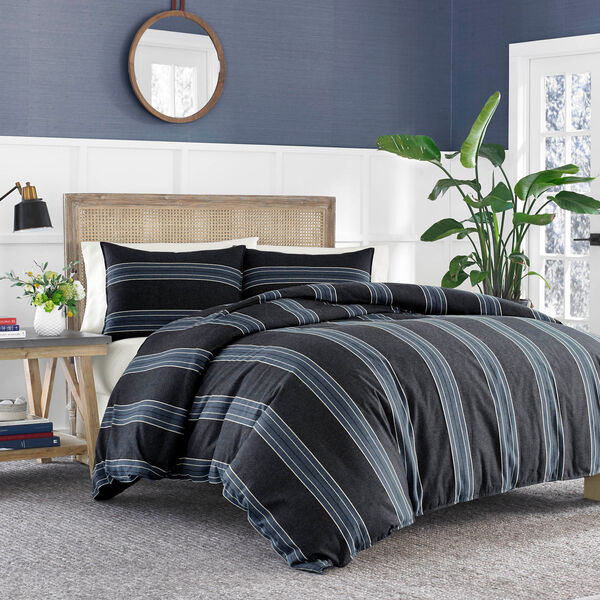 Lockridge Duvet Set - Pure Dark Pacific Wash