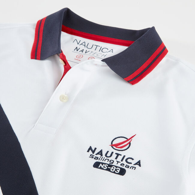 CLASSIC FIT PERFORMANCE NAVTECH SASH POLO,Bright White,large