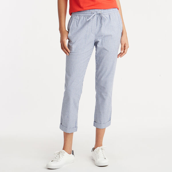 Asbury Classic Fit Stretch Pant in Stripe - Bayberry Blue