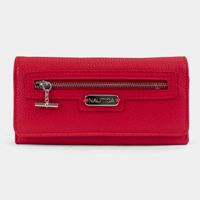 ABOVE BOARD BOXED CONTINENTAL WALLET,Nautica Red,large