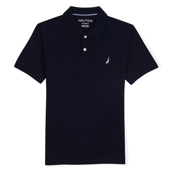 BOYS' STRETCH DECK POLO (8-20) - Sport Navy