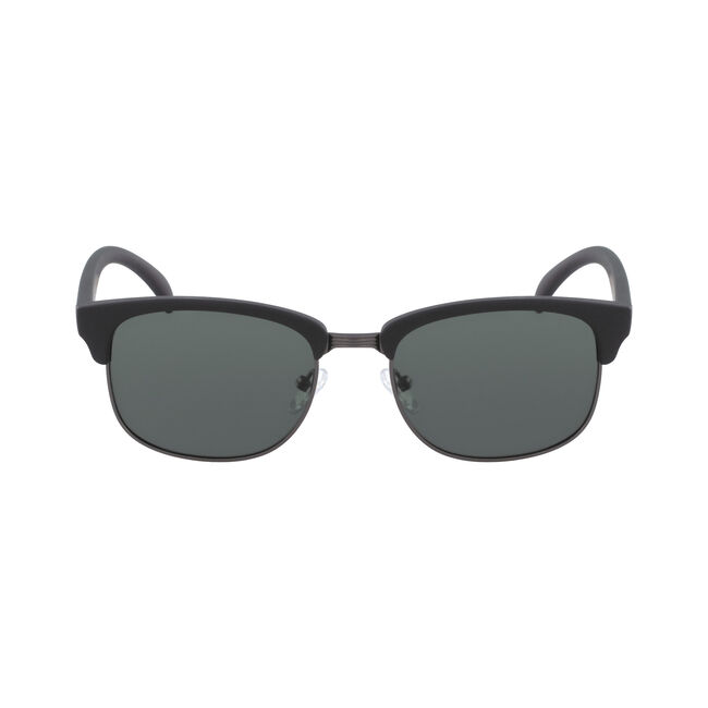 Iconic Clubmaster Sunglasses with Matte Frame,Black Onyx,large
