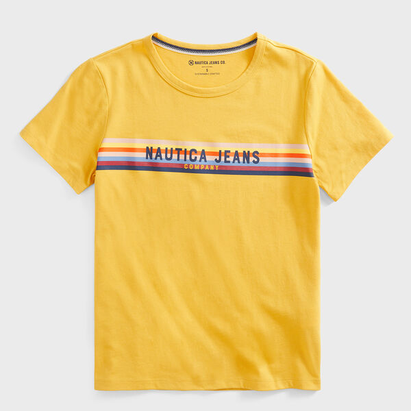 NAUTICA JEANS CO. SUSTAINABLY CRAFTED LOGO STRIPE T-SHIRT - Kernel