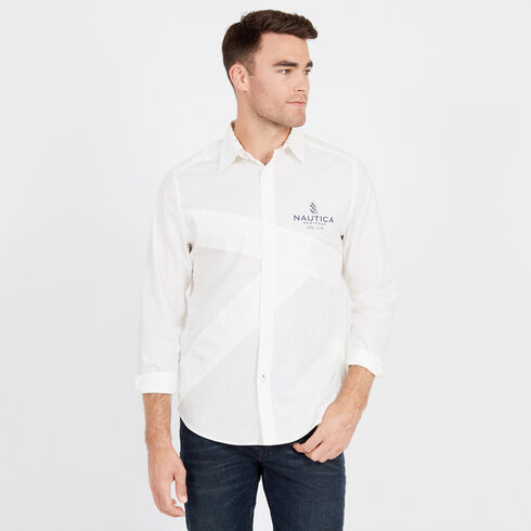 Long Sleeve Classic Fit Spinnaker Heritage Shirt - Sail White