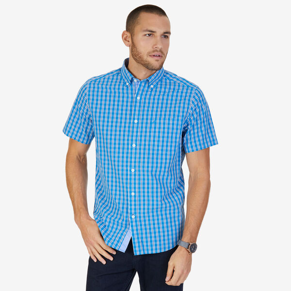 b1531599004 Tartan Plaid Classic Fit Button-Down Shirt - Sport Navy