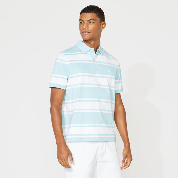 CLASSIC FIT STRIPED POLO - Harbor Mist