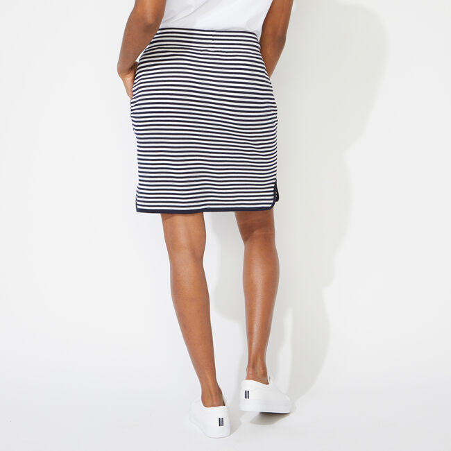 STRIPED KNIT SKIRT,Bright White,large