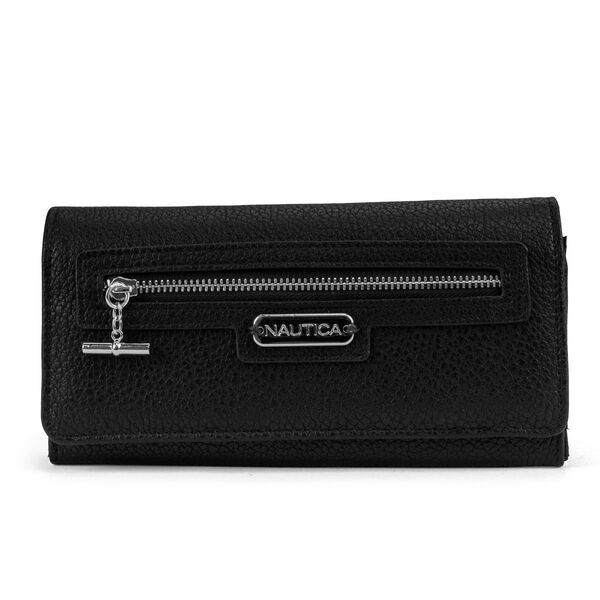 ABOVE BOARD BOXED CONTINENTAL WALLET - True Black