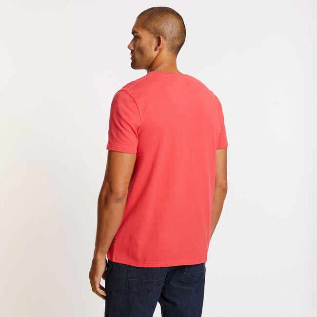 Big & Tall Short Sleeve Triangle T-Shirt,Coral Cape,large
