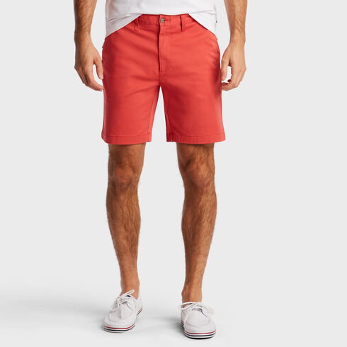 "Classic Fit Twill Deck Shorts - 8.5"" Inseam - Sailor Red"