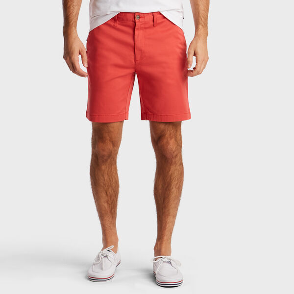 """8.5"""" Classic Fit Twill Deck Short - Sailor Red"""